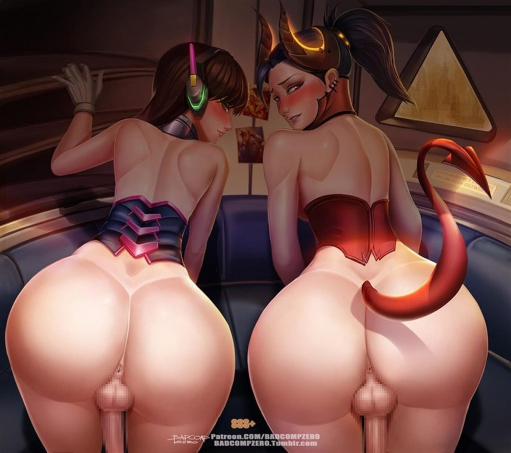 Overwatch Futa Dva and Mercy