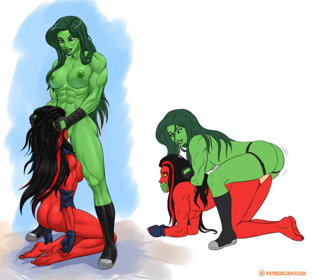 She-Hulk Strap on Sex