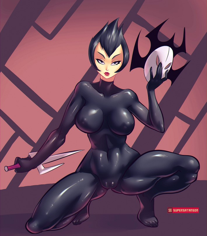 Ashi from Samurai Jack skintight suit