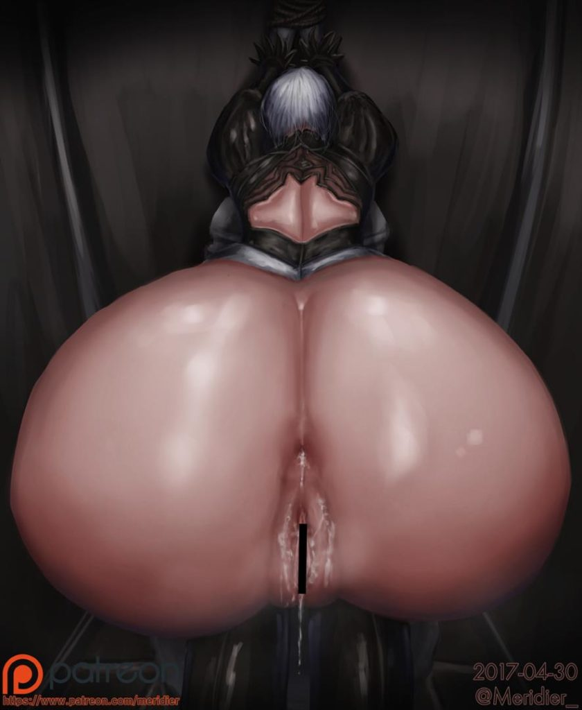 Nier Automata 2B thick fat ass