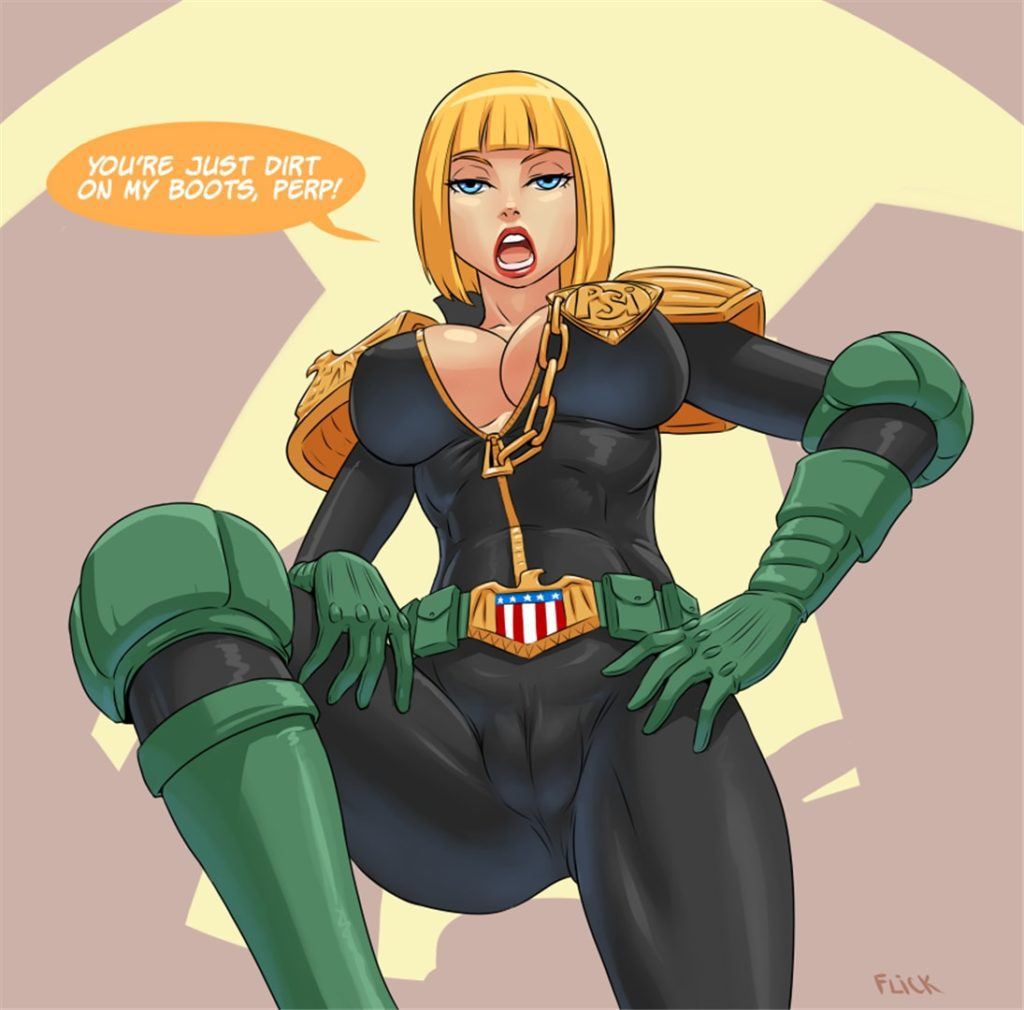 Judge Dredd female porn cameltoe