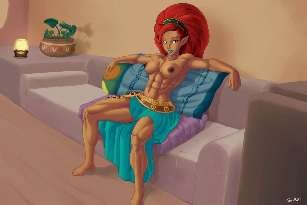 Zelda gerudo girl exposing breasts
