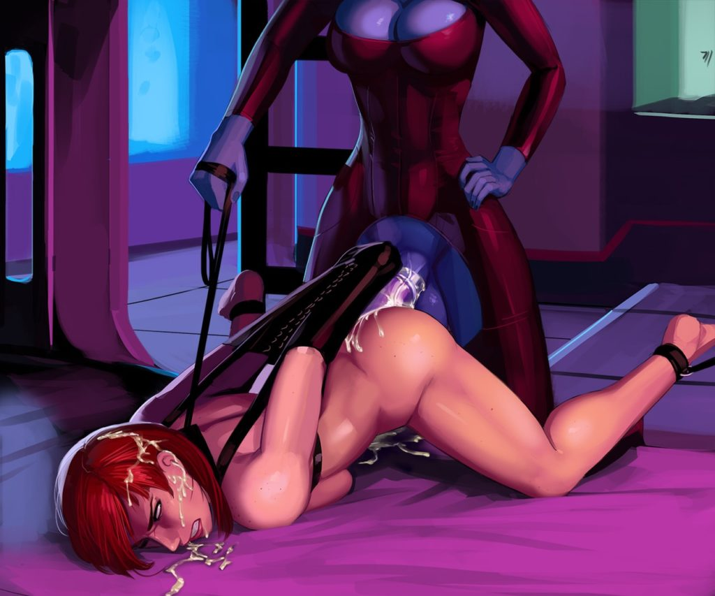 Mass effect Shepard anally fucked by futanari asari