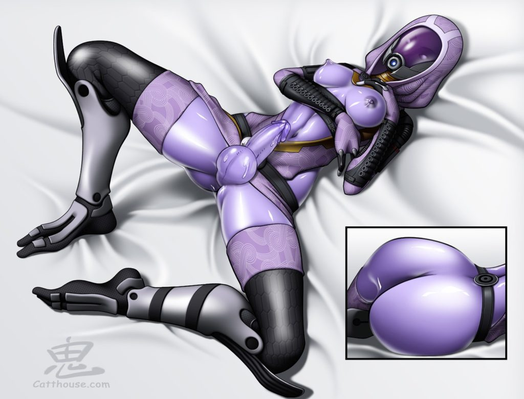 Mass effect Tali Futanari Rule 34 spread legs