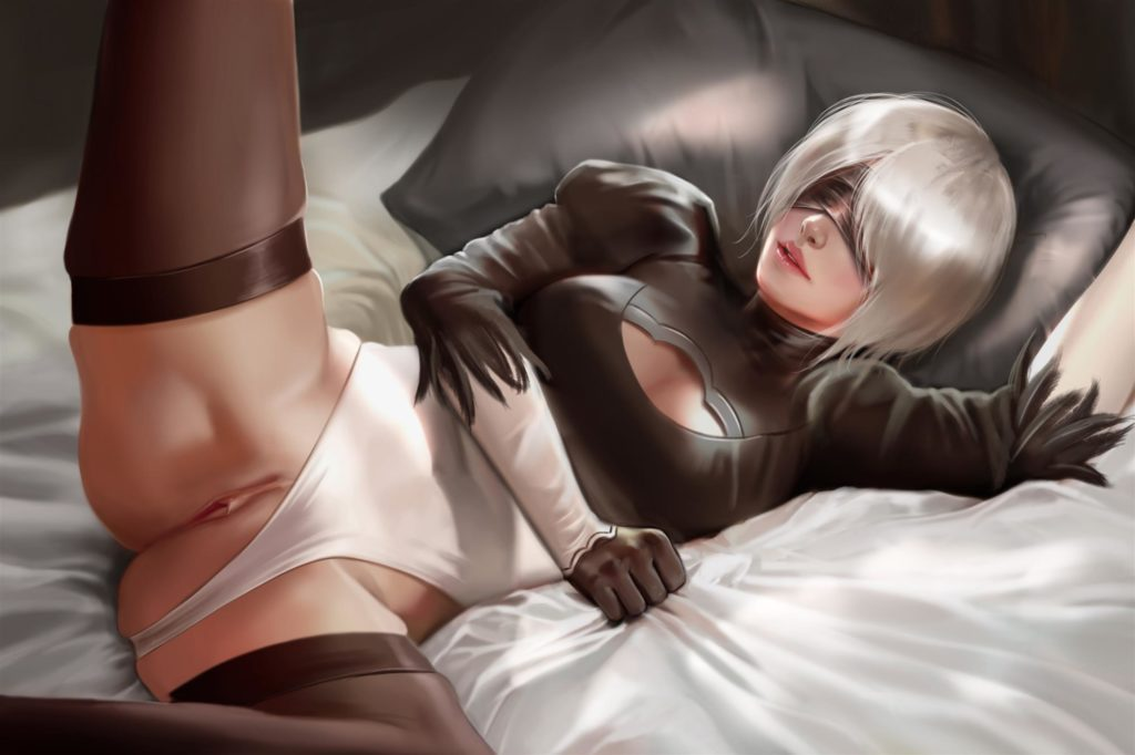 2B spreading legs pussy exposed panties to the side