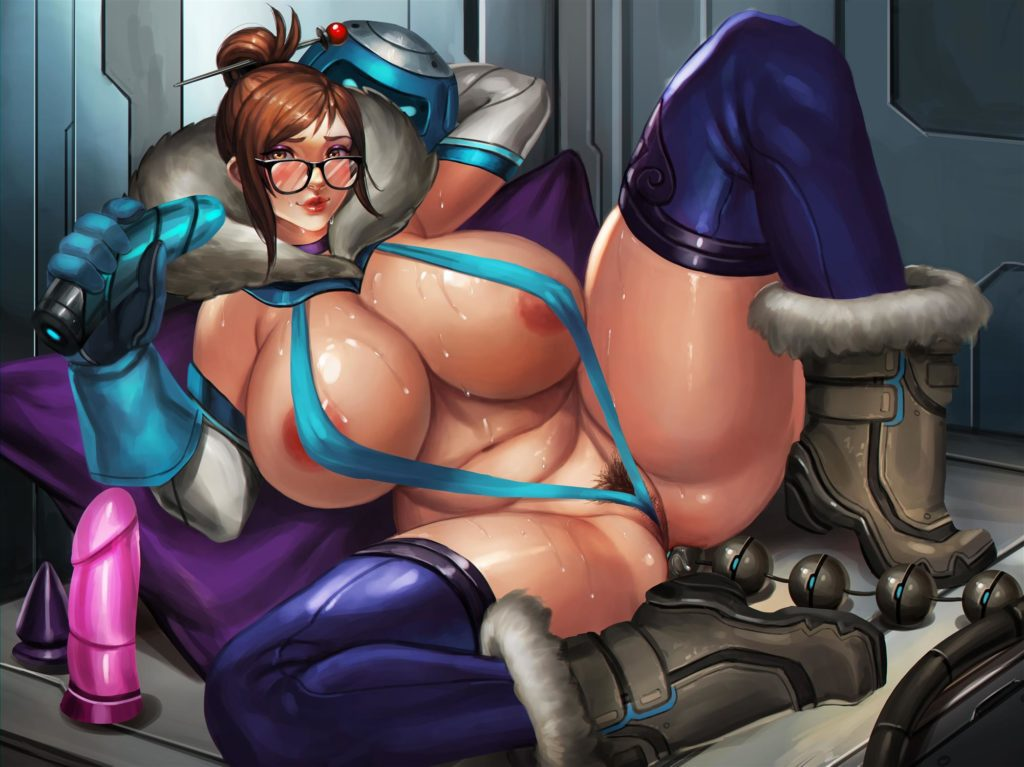 Mei with huge breasts in a thong