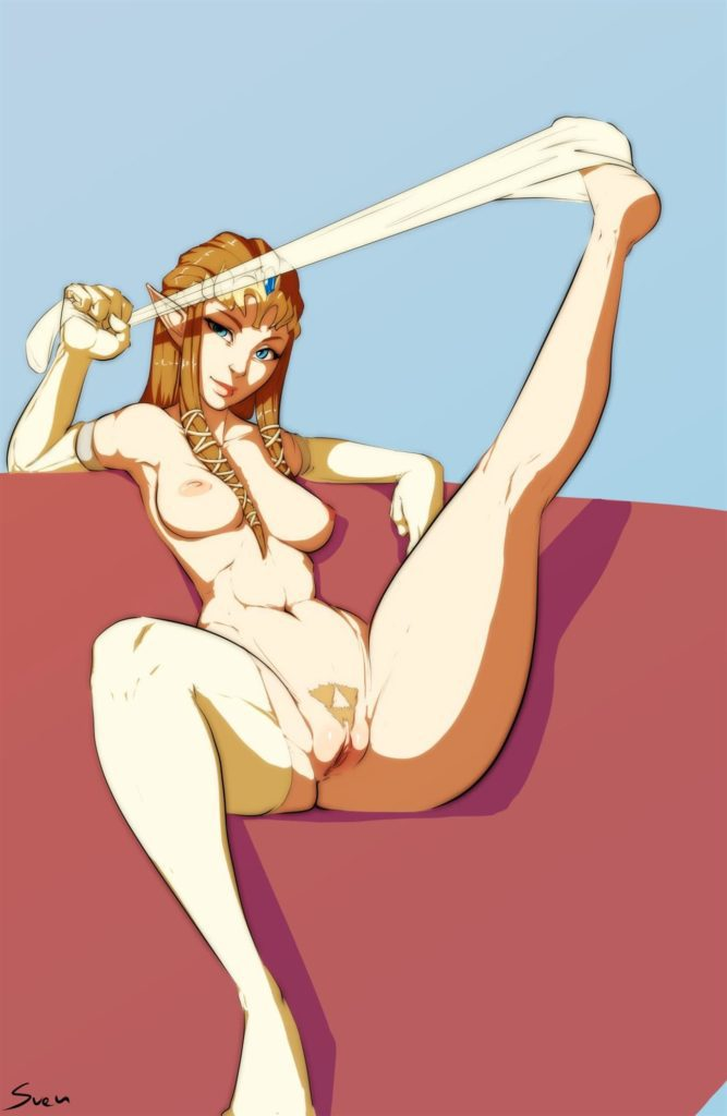 Zelda nude spreading legs pussy taking off pantyhose