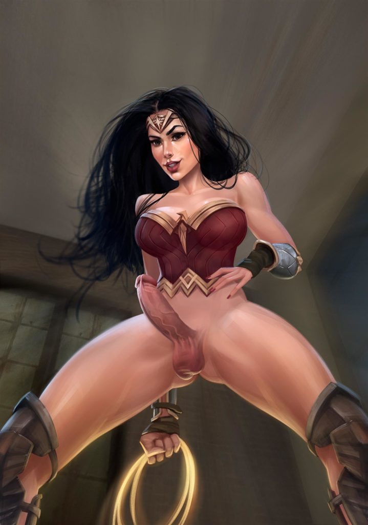 Wonder woman with an erection