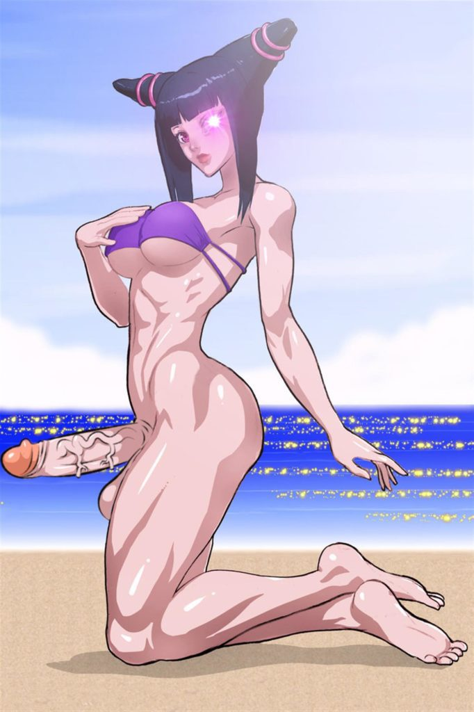 Juri on the beach naked and erect