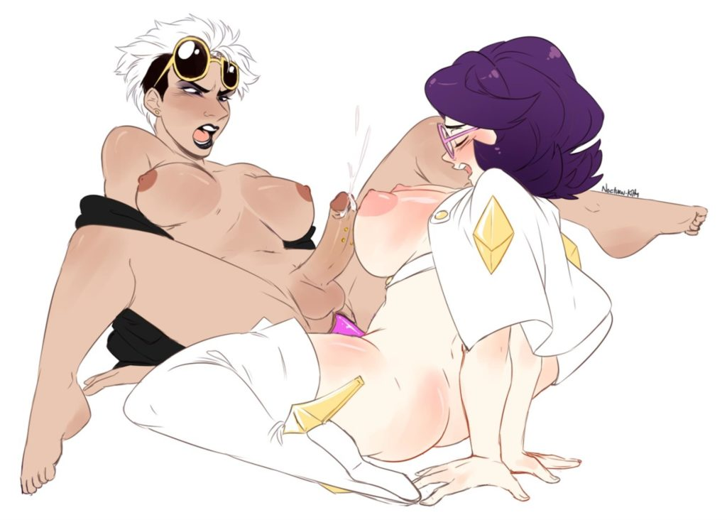Futa Guzma fucked by Wicke with a strapon