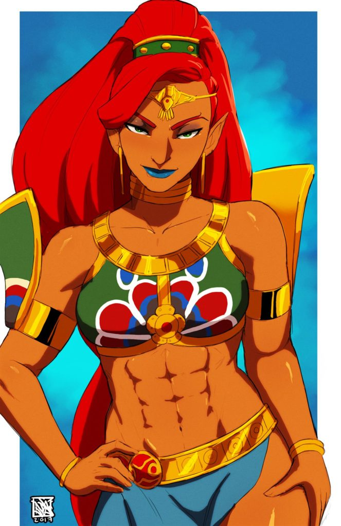 Urbosa doing sexy poses