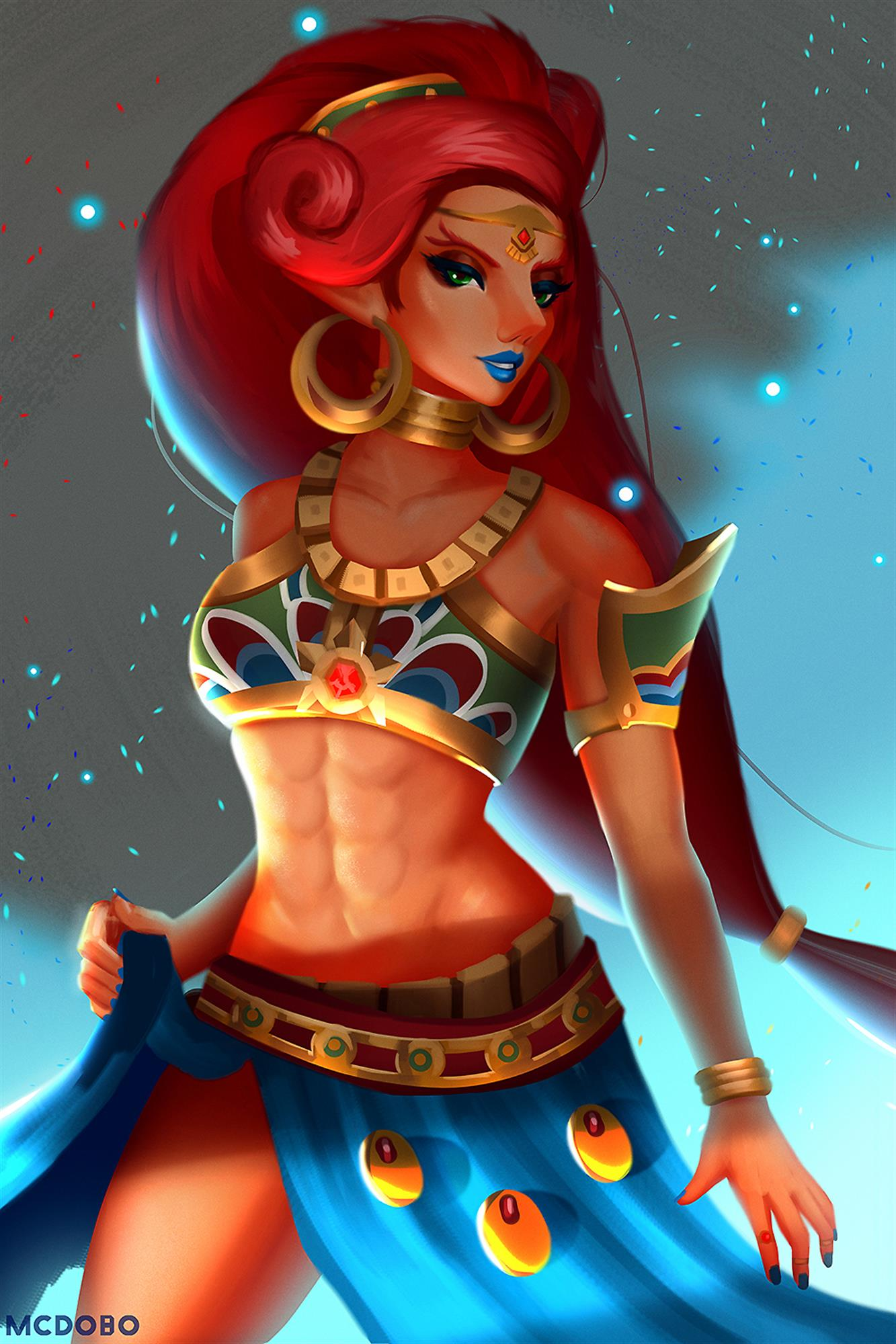 Urbosa lewd lifting her skirt