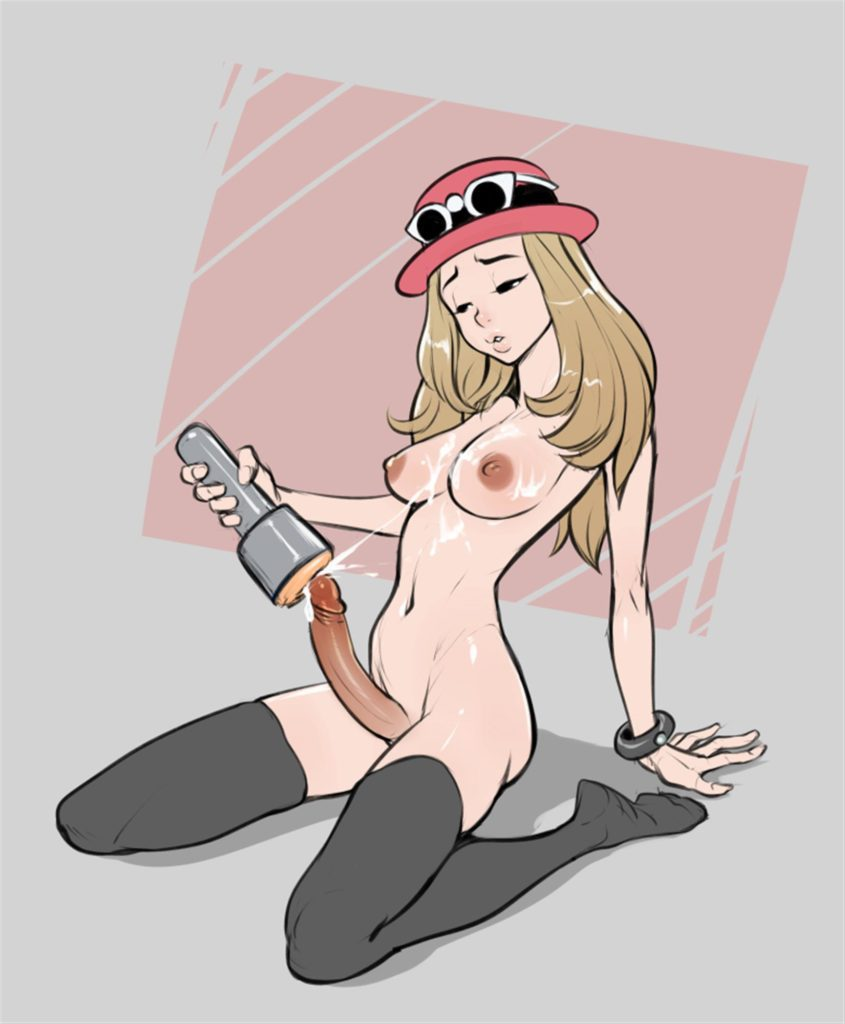 Serena using a fleshlight