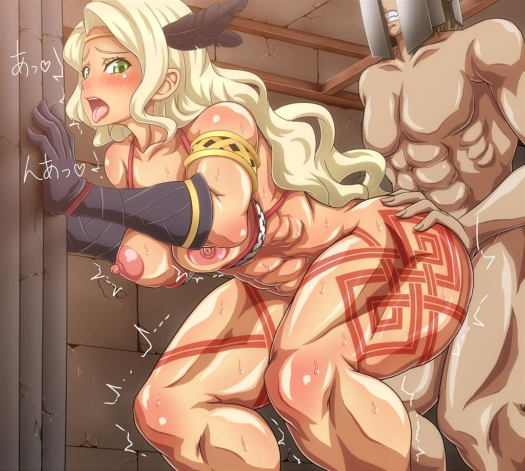 Muscular Amazon getting fucked from behind
