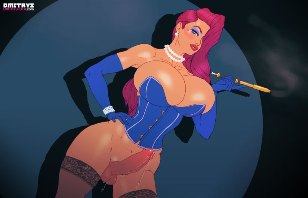 Jessica Rabbit with a hard dick