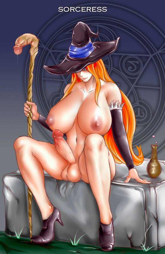 Sorceress using dick magic