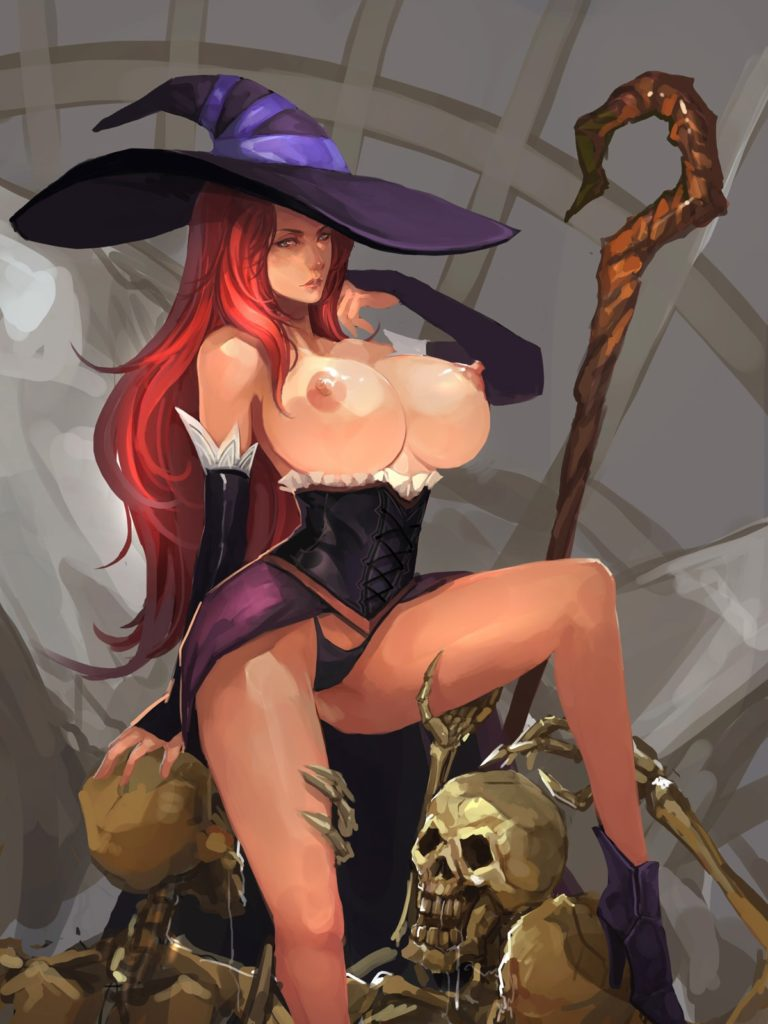 Sorceress going topless