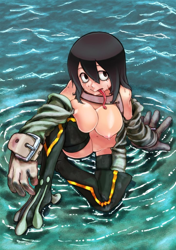 Froppy nude in a lake