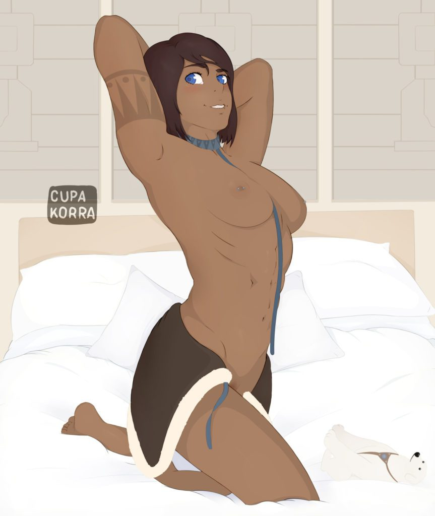 Korra nude on the bed