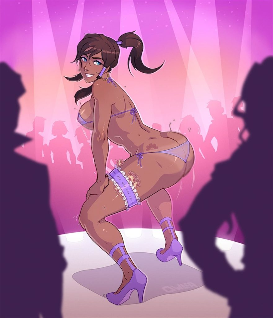 Korra twerking as a stripper