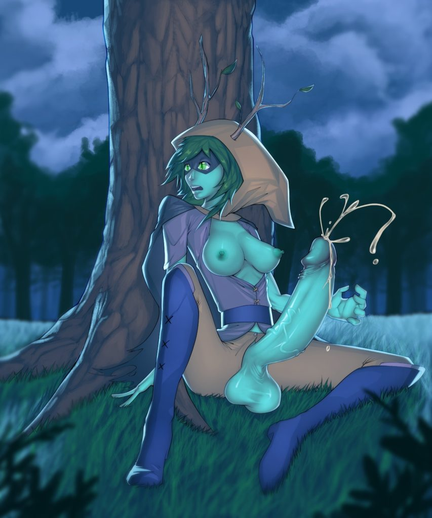 Huntress Wizard has a huge dick
