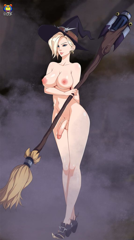 Futa Witch Mercy nude
