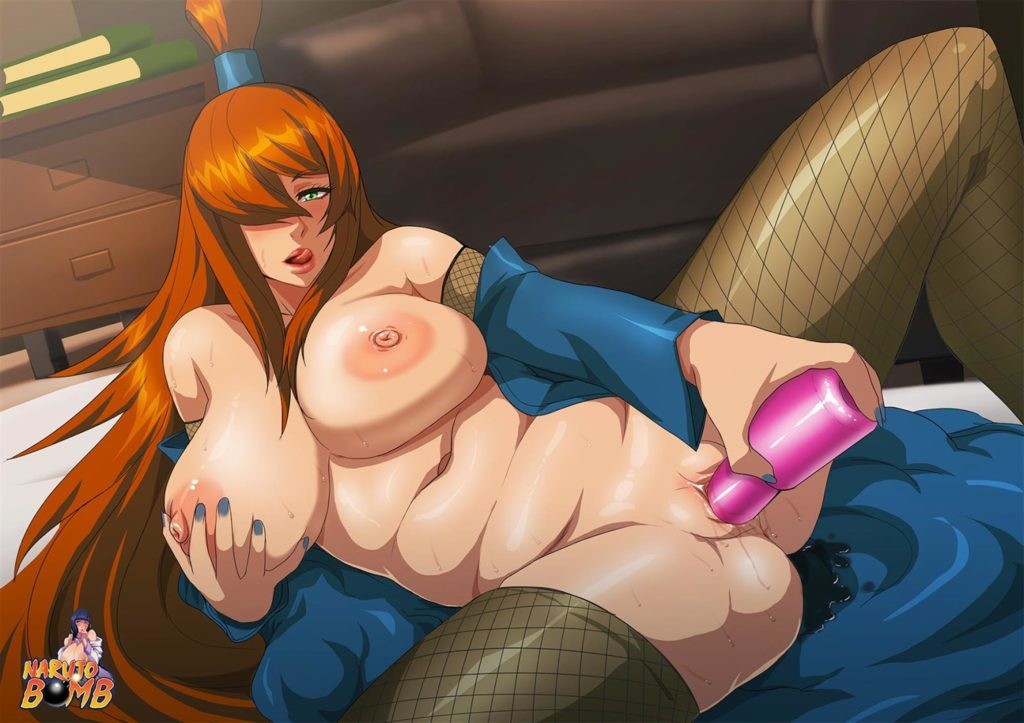 Mei Terumi the Mizukage masturbating with a dildo
