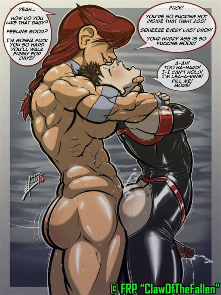 Muscular futa woman fucks boy