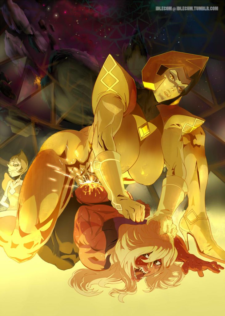 Futa yellow Diamond raping Jasper