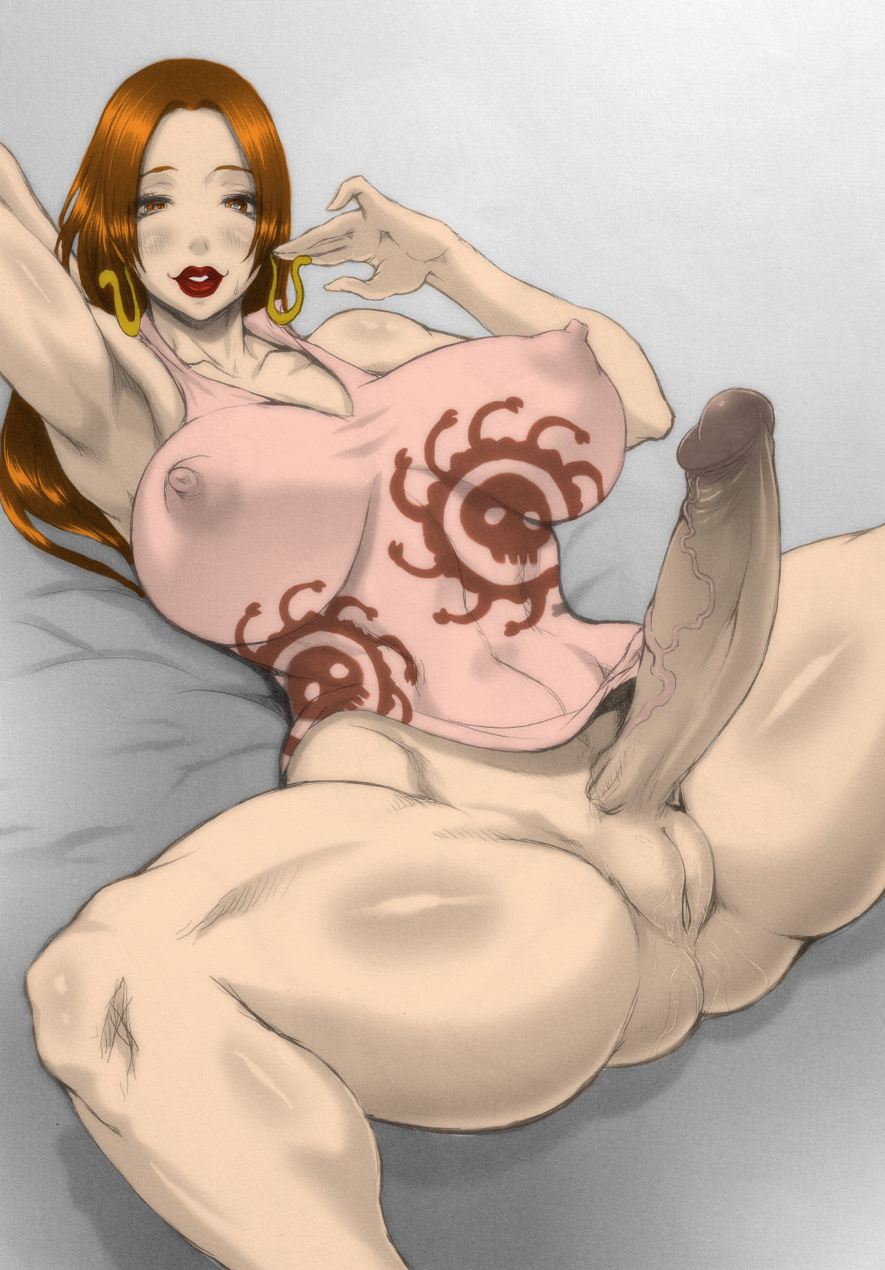 Thick and muscular futa Hancock