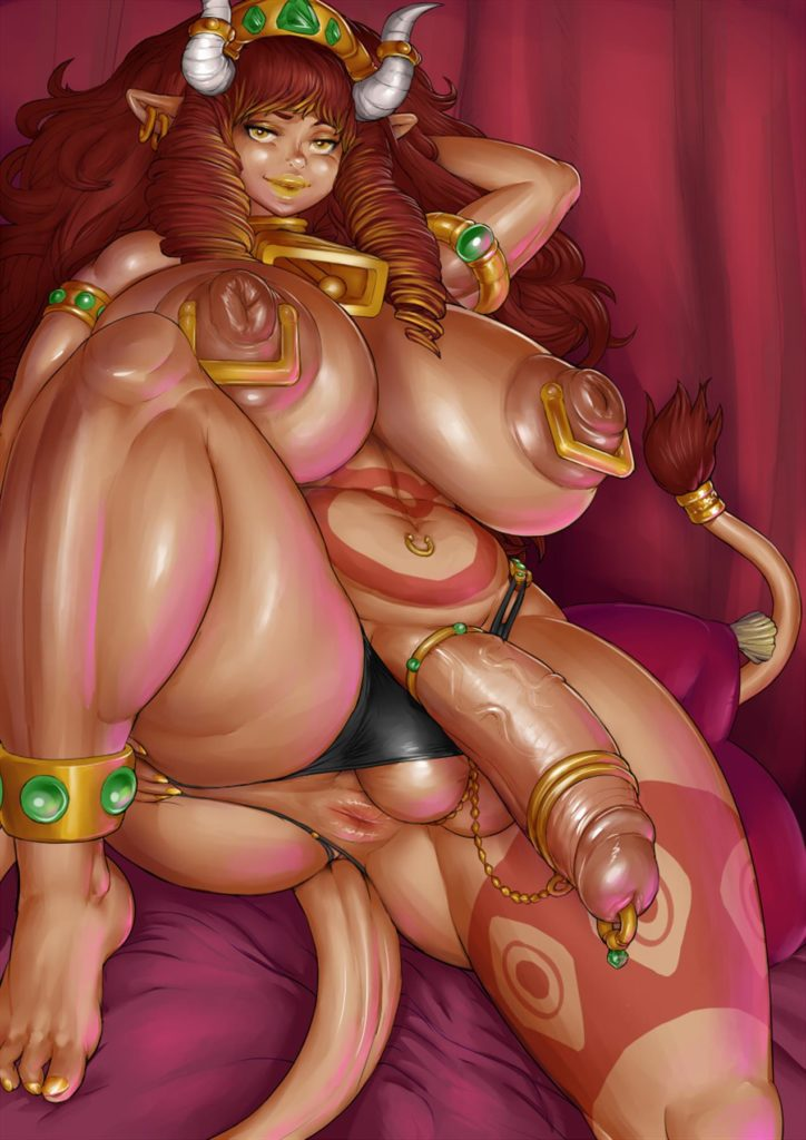 Fat futa cowgirl excellia with cockrings