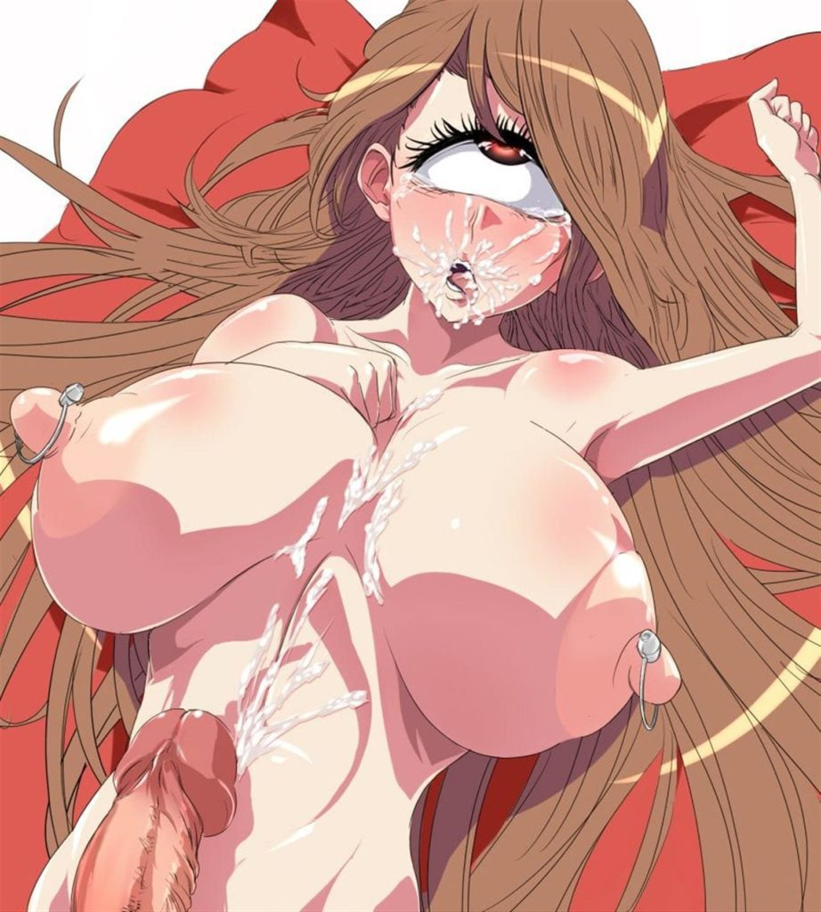 A futa cyclops girl came all over her big tits and did ahegao
