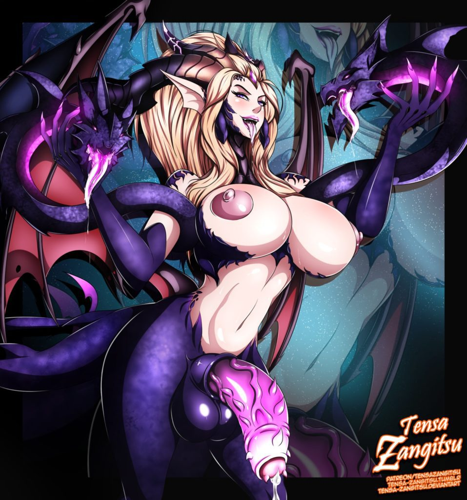 Zyra from league has a big thorny dick