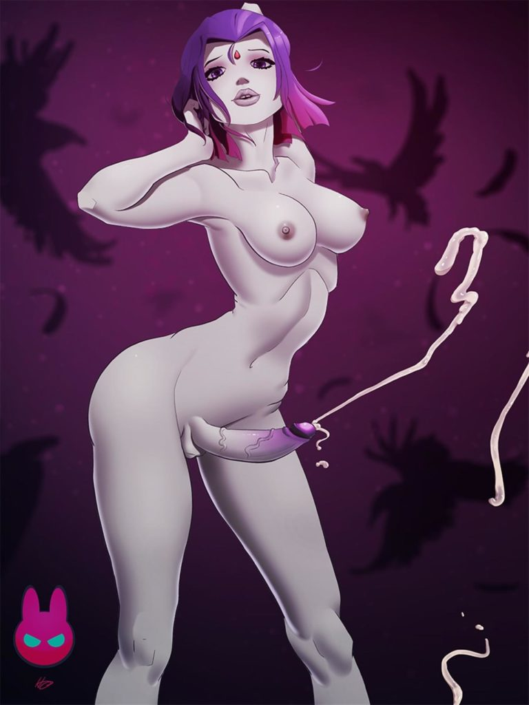 Futa Raven spraying cum