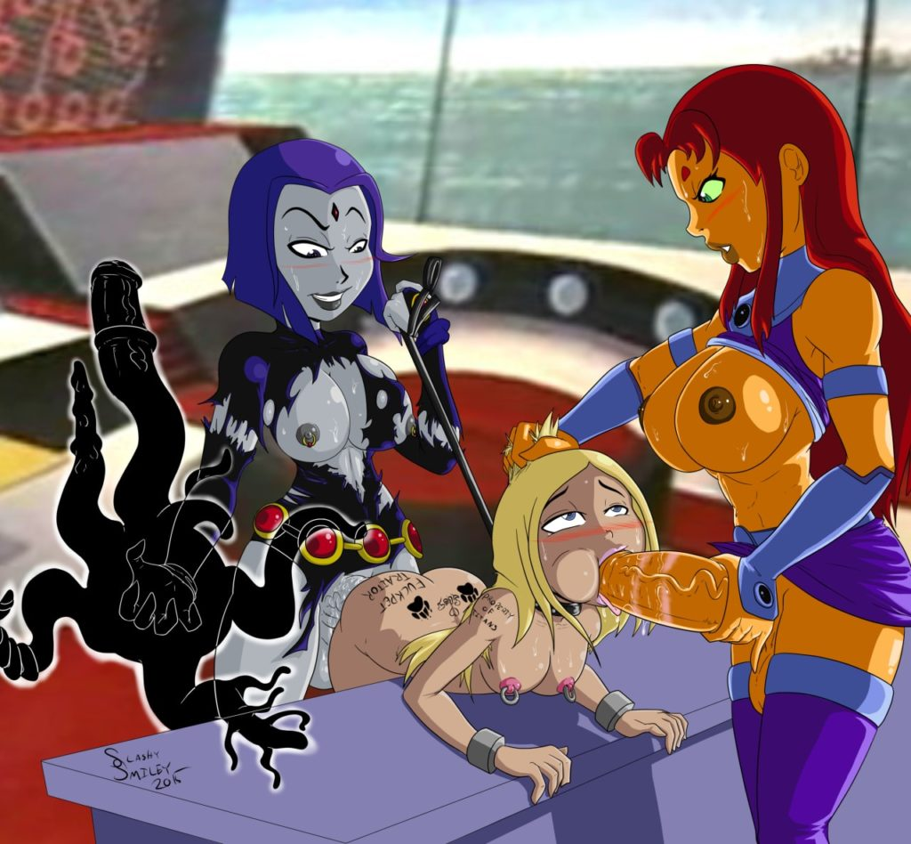 Raven and Starfire futa fucking Terra together
