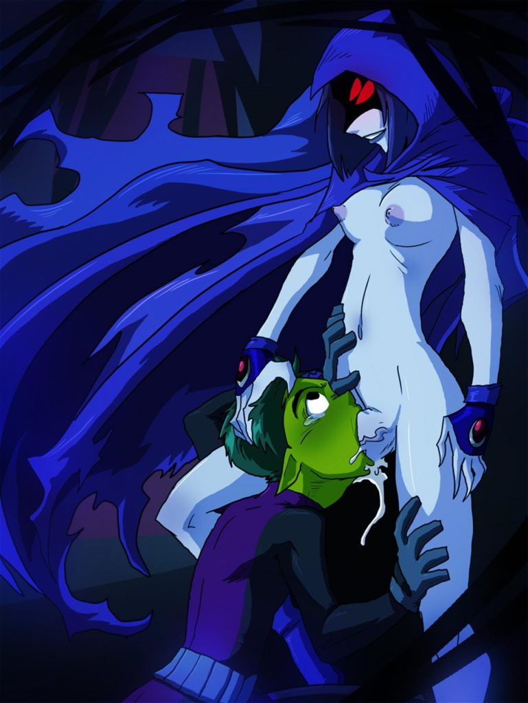 Futa Raven cumming in Beastboys throat