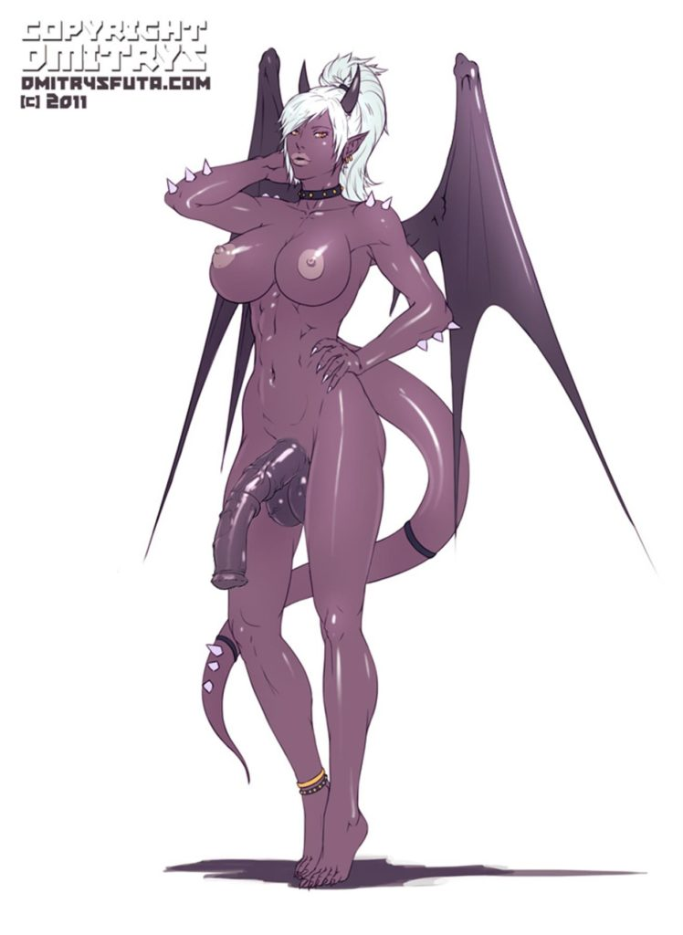 Purple futa demon