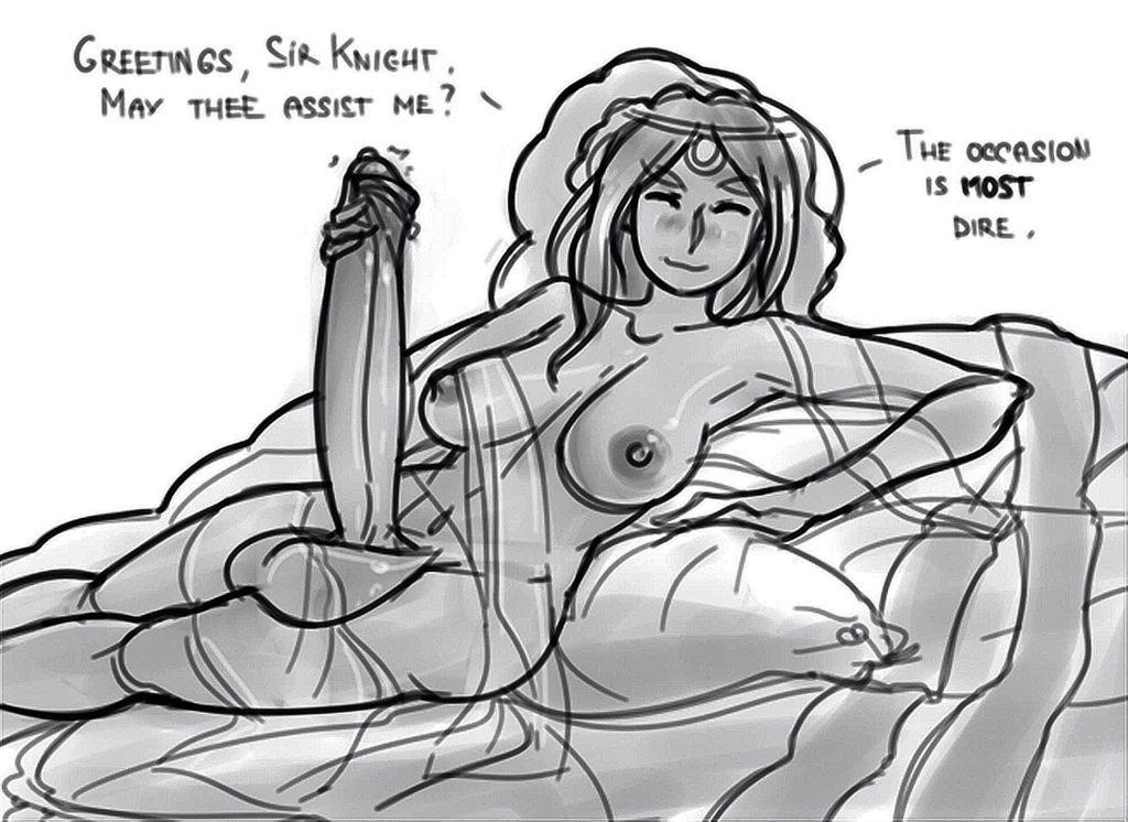 Futa Gwynevere needs help with her big cock