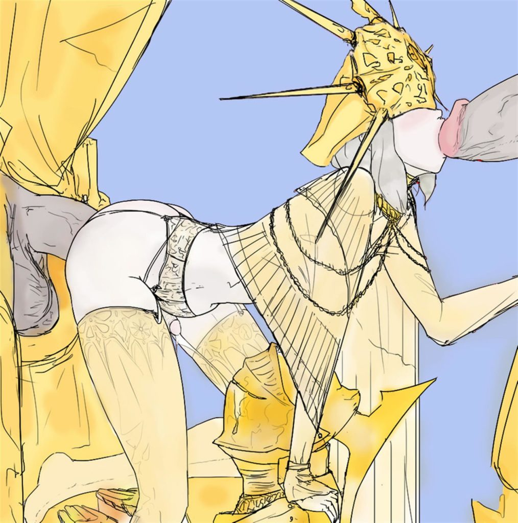 Gwyndolin fucked by huge dicks