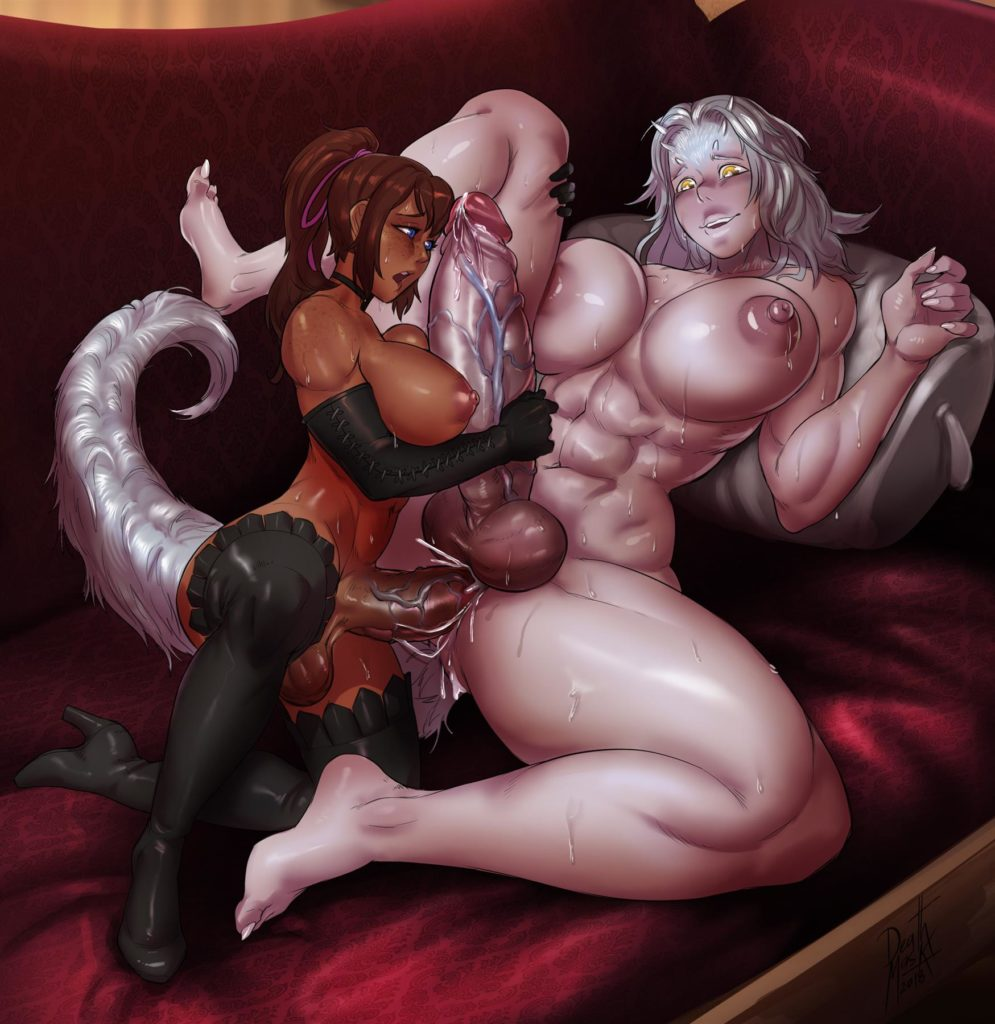 Futa girl fucking thick muscular Priscilla