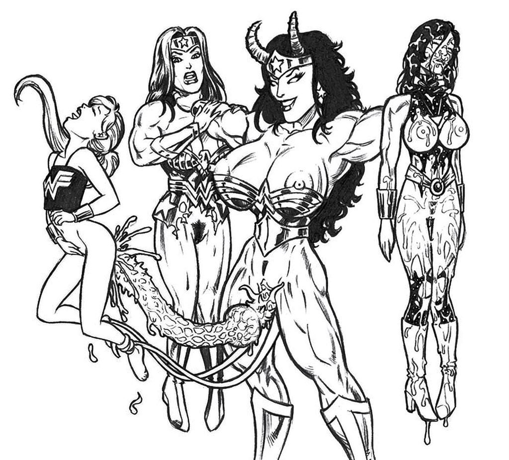Demonic futa Wonder Woman fucking superheroes