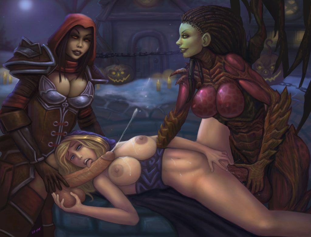 Kerrigan and Valla fucking Jaina Proudmoore