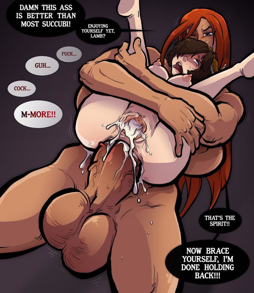 Futa barbarian fucks Leahs asshole after creaming her pussy