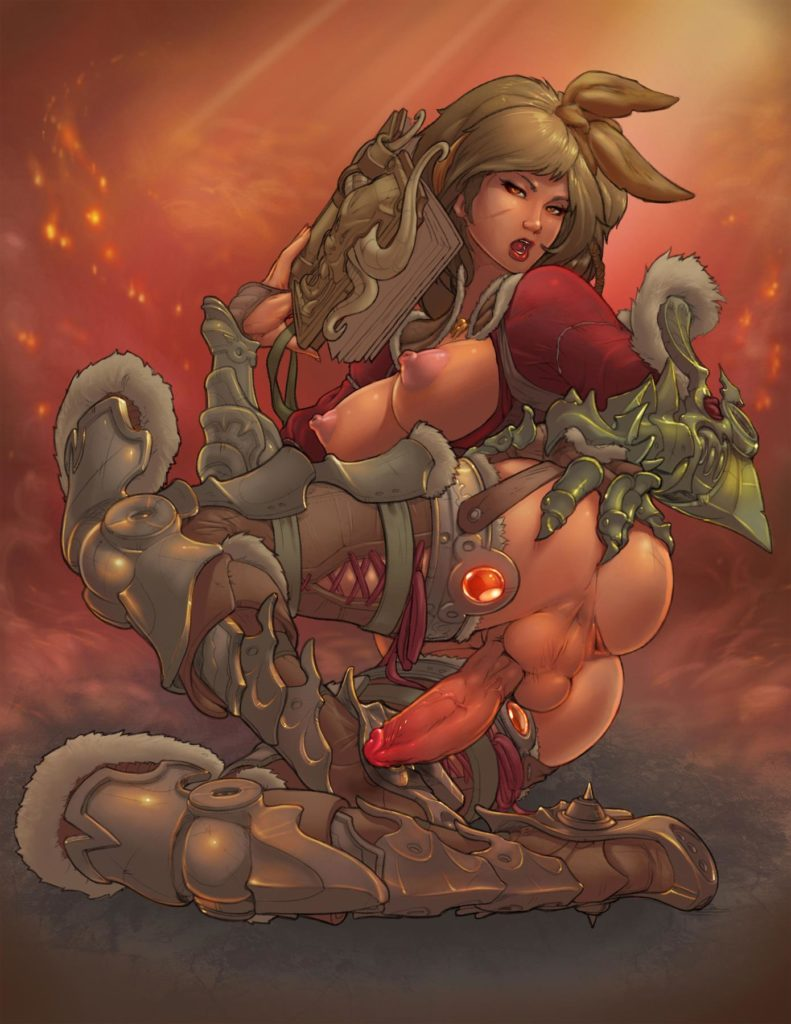 Futa demon hunter Leah