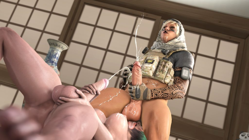 Futa rainbow six girls masturbating and cumming