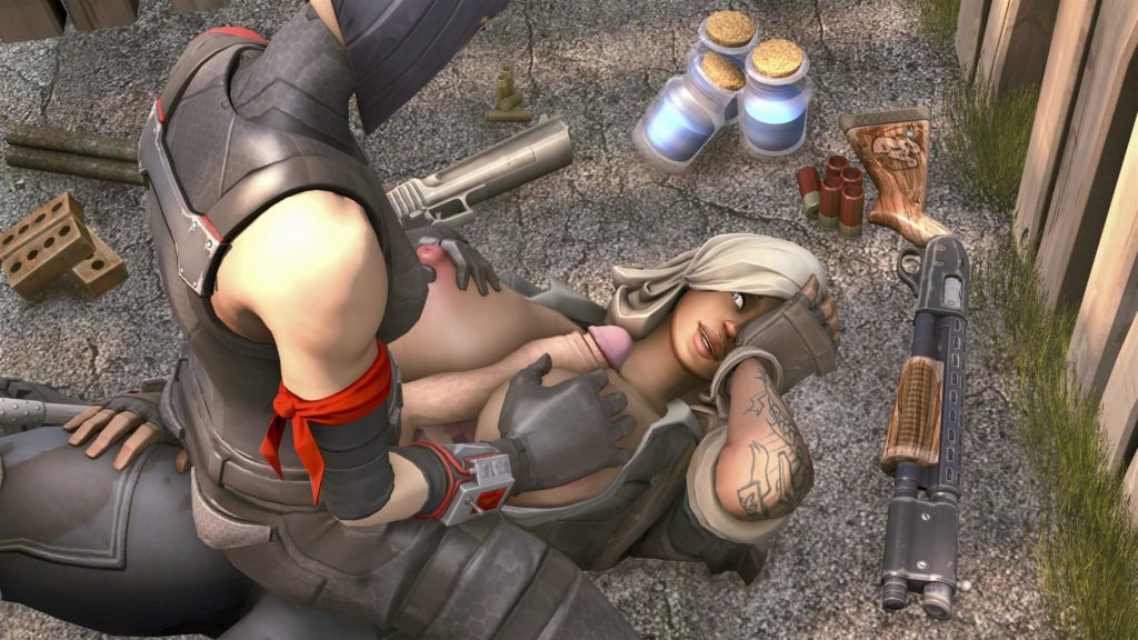 Constructor Penny has some huge tits and futa Shadow Ops is fucking them