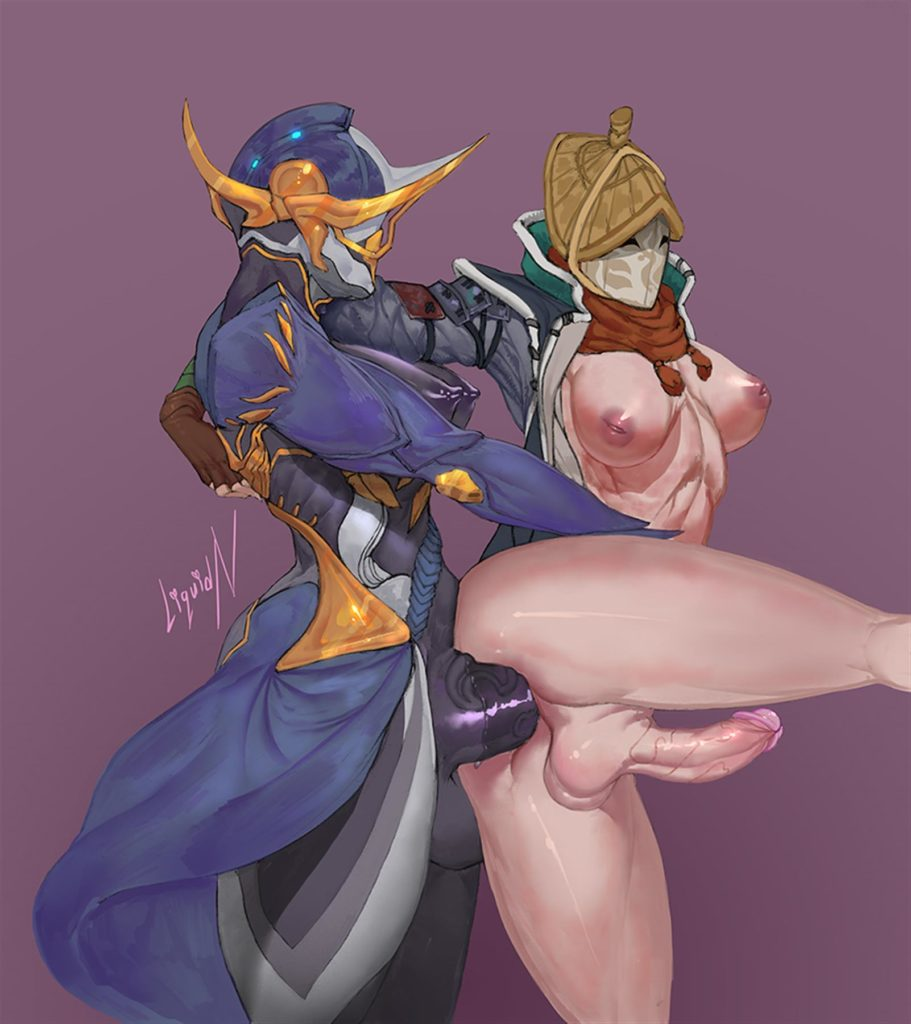 Futa Nobushi from the game for honor anally fucked by tenno