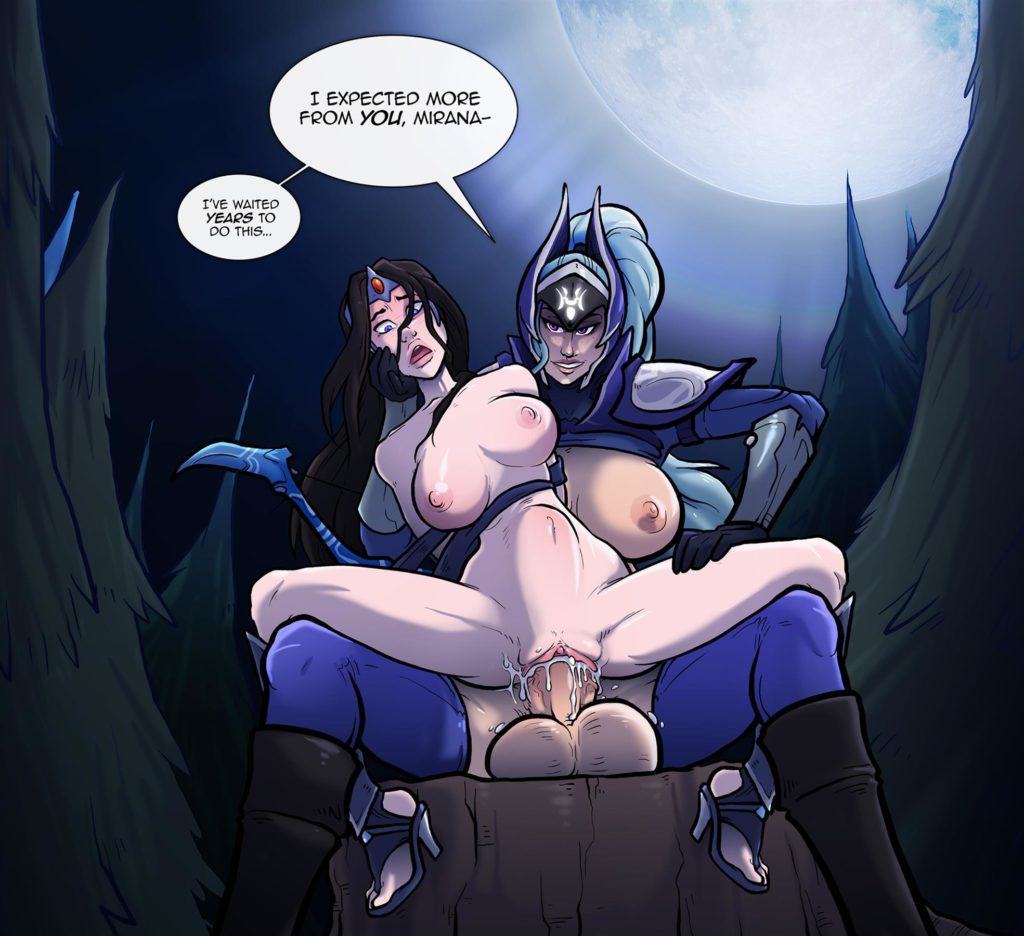 Futa Luna fucking Mirana with a thick cock