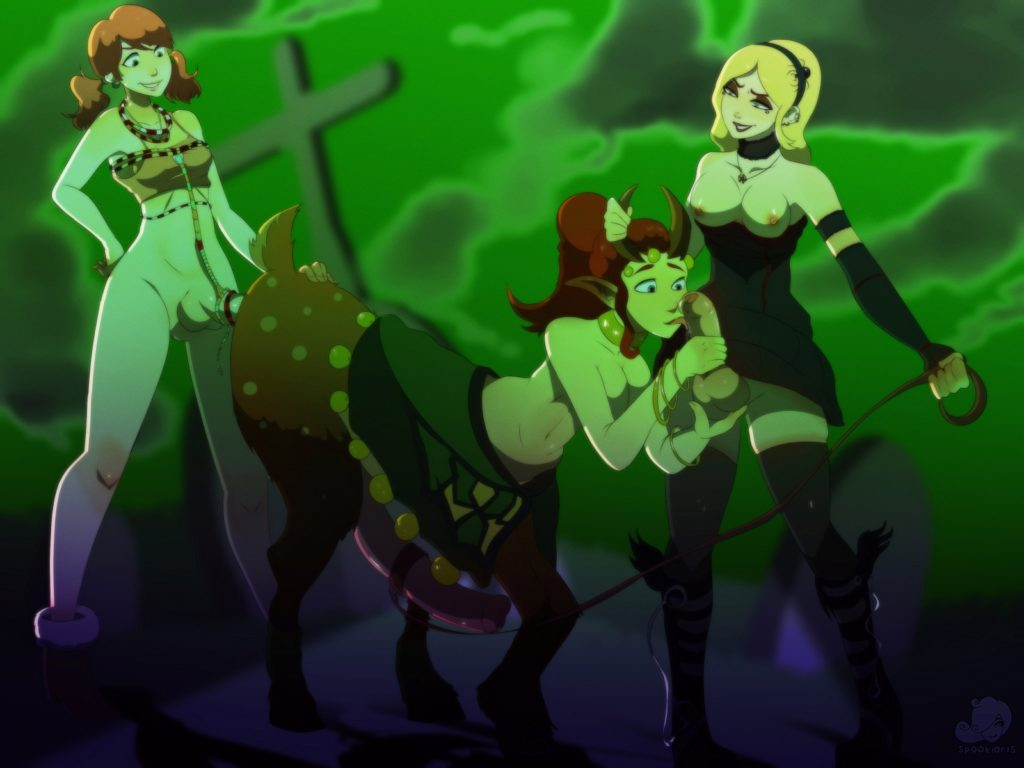 Futa Lux and Oerba Dia Vanille fucking the futa centaur enchantress together