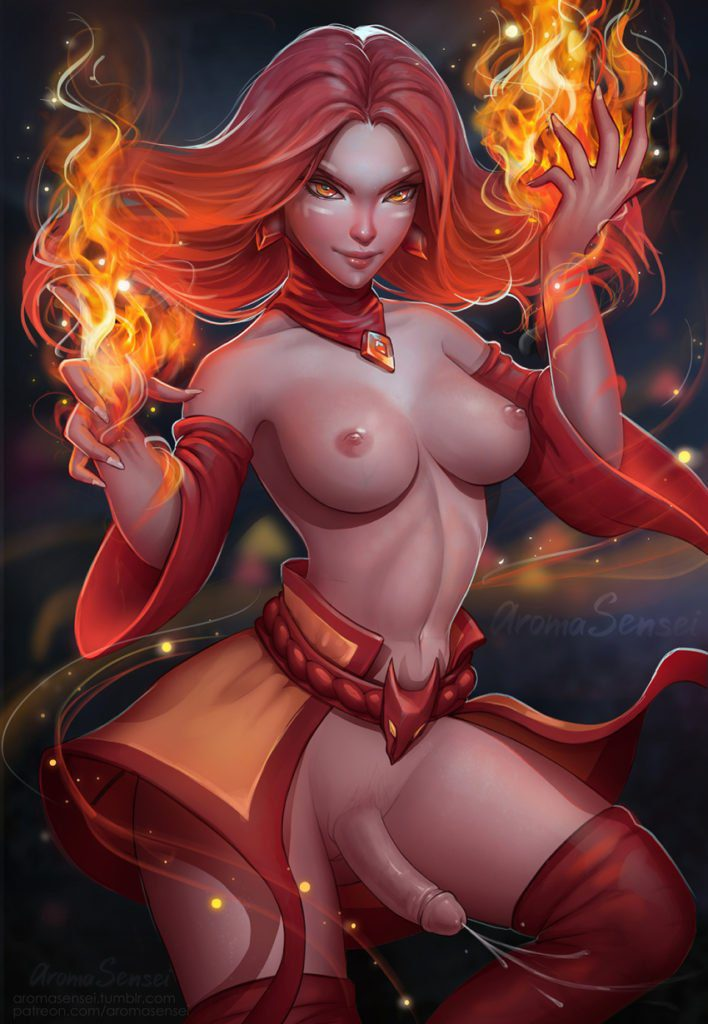Futanari Lina from dota 2